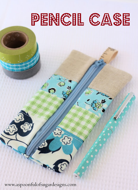 simple fabric pencil case (via aspoonfulofsugardesigns)