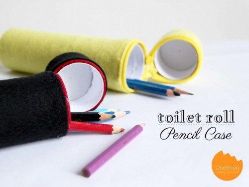 felt toilet paper roll pencil case (via onelmon)
