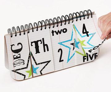 sectioned perpetual calendar (via scrapbooksetc)