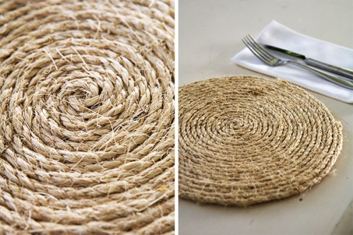 rope table placemats (via taradennis)