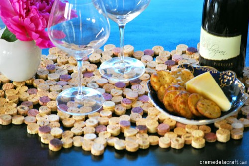 cork tile placemat (via cremedelacraft)