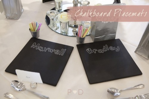 chalkboard placemats (via pocketfulofdreams)