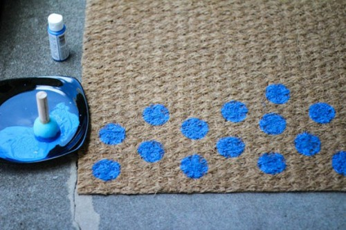 Cool Diy Polka Dot Doormat