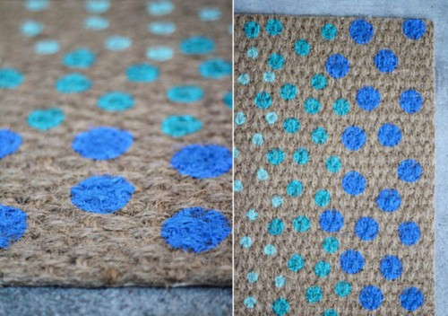 Cool Diy Polka Dot Doormat Shelterness
