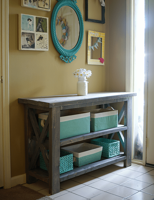 custom console table (via savedbylovecreations)