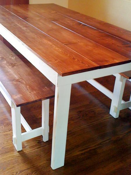 rustic dining table (via ana-white)