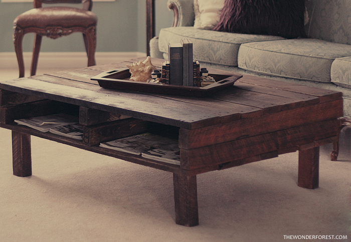 how to build a pallet coffee table