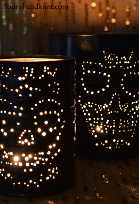 Cool DIY Skull Luminaries For Halloween