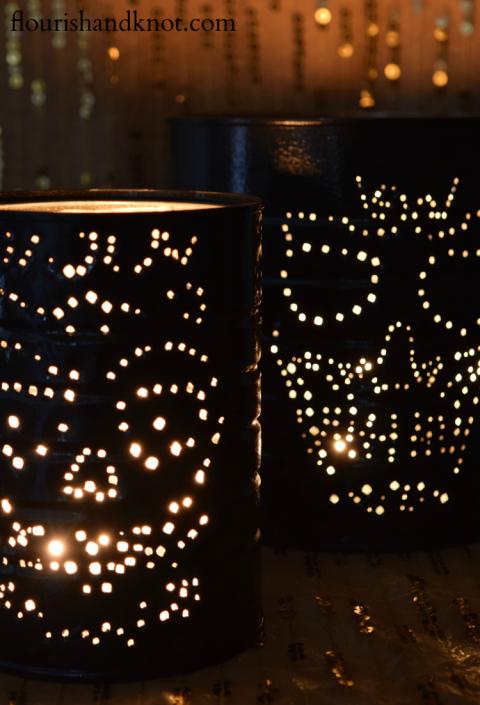 Cool DIY Skull Luminaries For Halloween