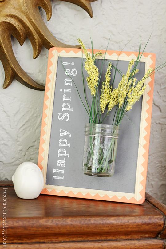 spring framed vase