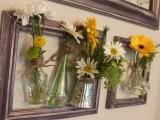 wall framed vases