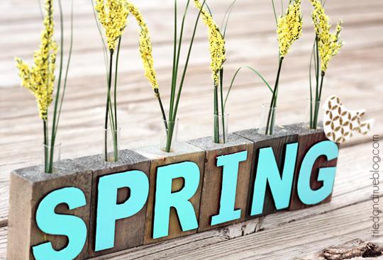 spring test tube vases