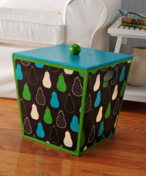 fabric covered storage box (via modpodgerocksblog)
