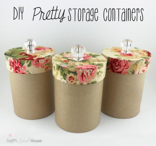 pretty storage containers (via smartschoolhouse)  sc 1 st  Shelterness & 30 Cool DIY Storage Furniture Containers And Boxes - Shelterness