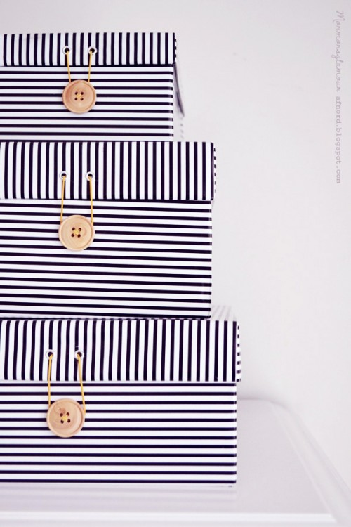 covered shoe boxes (via blogg)