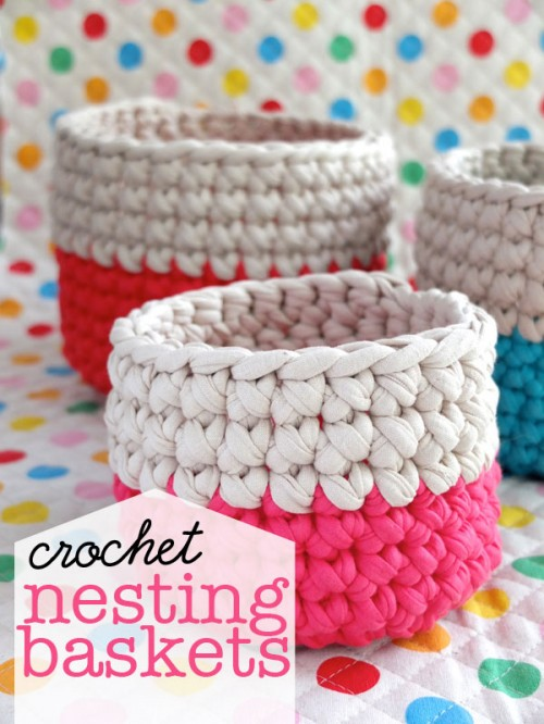 crochet nesting baskets (via mypoppet)