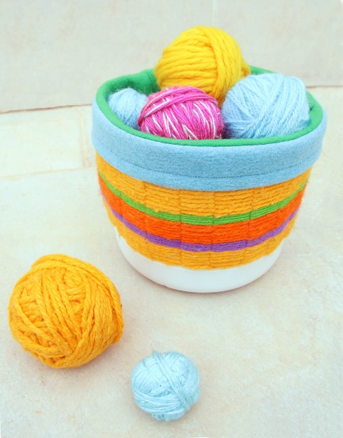 colorful woven basket (via shelterness)