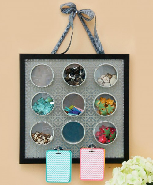 magnetic embellishment organizer (via damasklove)