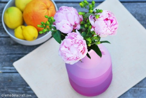 Cool DIY Striped Flower Vase