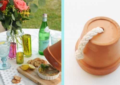 Cool Diy Terracotta Pot Cloche For A Meal Outside