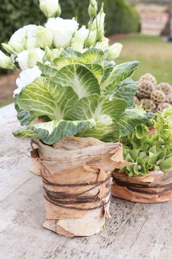 fresh veggie centerpieces