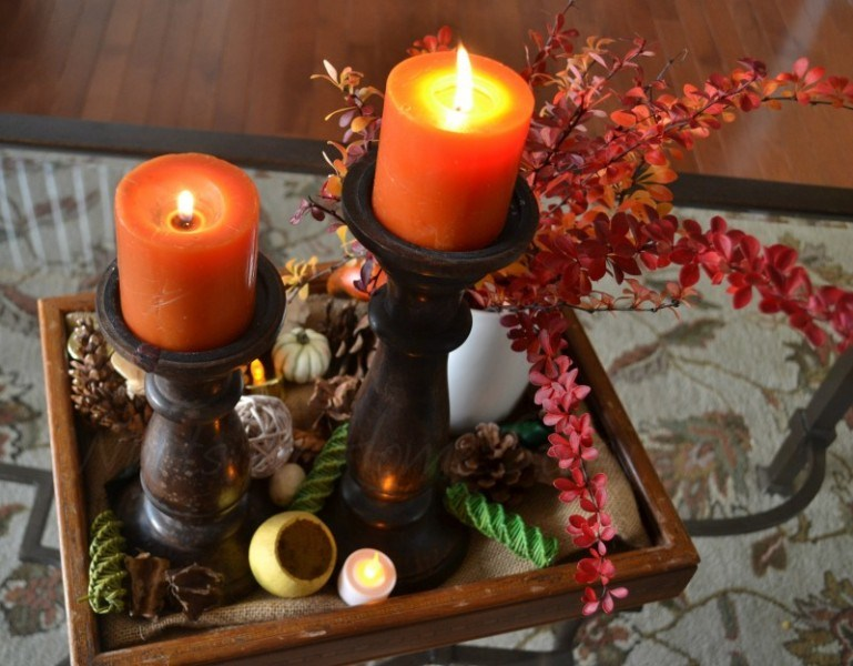 classical Thanksgiving centerpiece