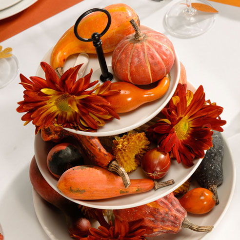 harvest plate centerpiece