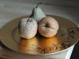 painted fruit centerpiece