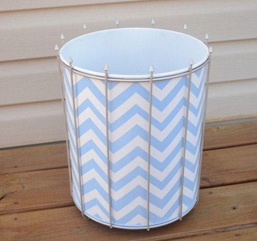chevron trash can (via infarrantlycreative)