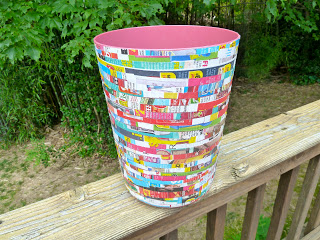 12 cool diy trash can makeovers shelterness - Cool wastebaskets ...