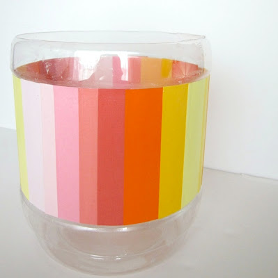 ombre trash bin (via modpodgerocksblog)