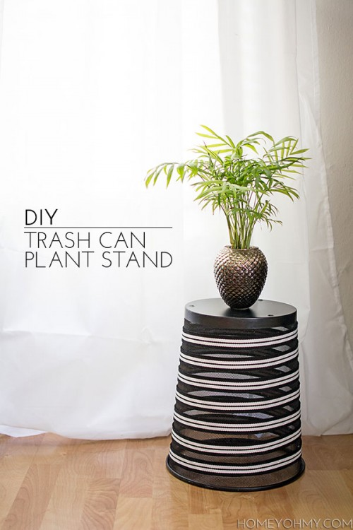 Cool DIY Trash Can Plant Stand