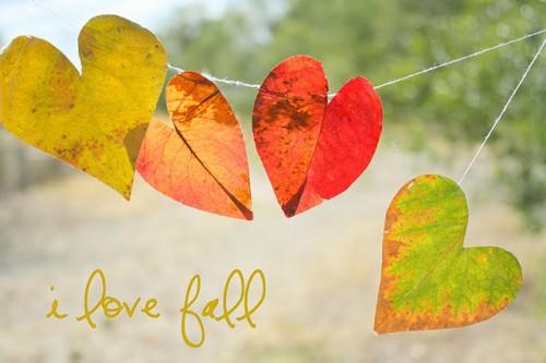 DIY Heart Leaf Garland (via theletter4)