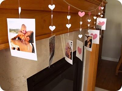 DIY Valentine Polaroids Garland (via adamandhaleykjar)