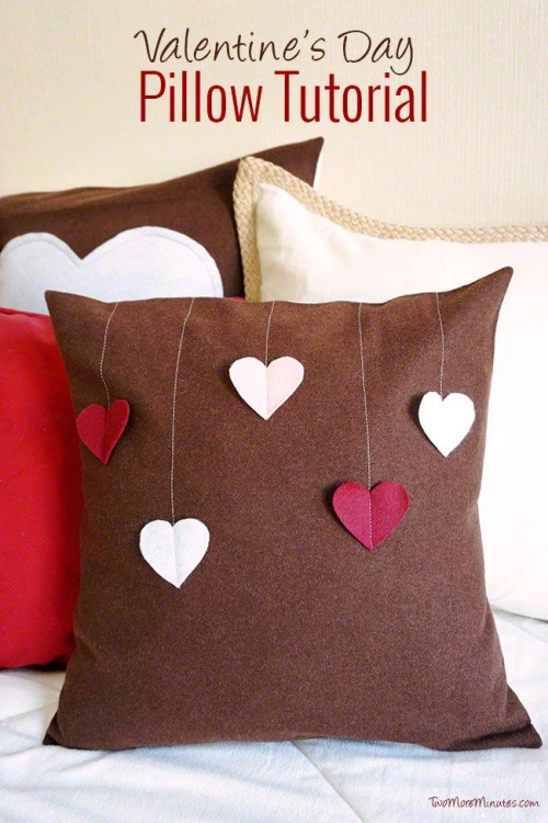 Cool Diy Valentines Day Pillow