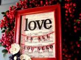 DIY Valentines Frame Wreath