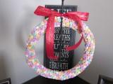 DIY Valentines Candy Wreath