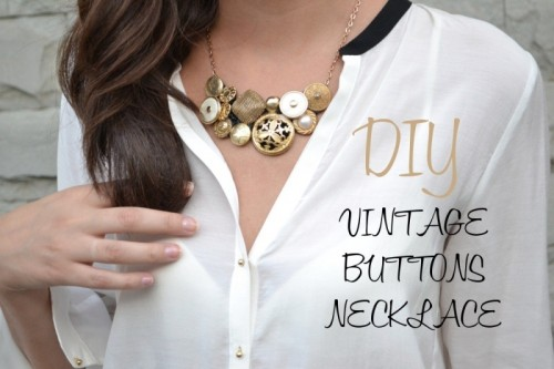 Cool Diy Vintage Buttons Necklace