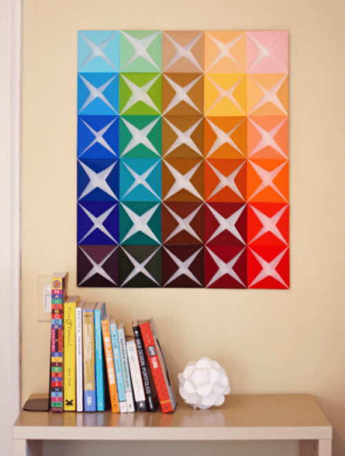 Cool diy wall art of colored paper shelterness - Easy wall decorations homemade ...