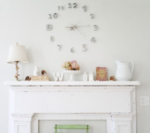 Cool Diy Wall Clock Of House Numbers