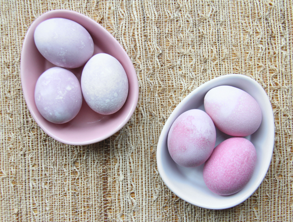 pretty pink Easter eggs