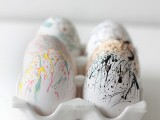 paint splattered eggs