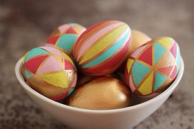 kaleidoscope Easter eggs