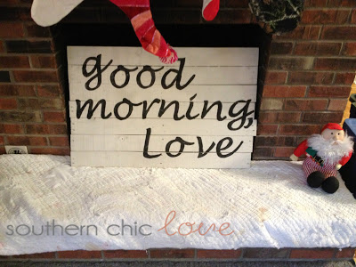 'Good morning' distressed sign (via southernchiclove)