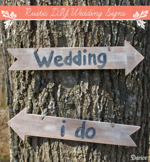 rustic distressed wooden sign (via blog)