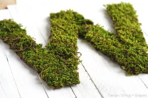 whitewashed wood and moss sign (via designdininganddiapers)