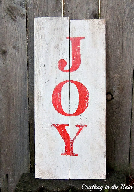 whitewashed JOY sign
