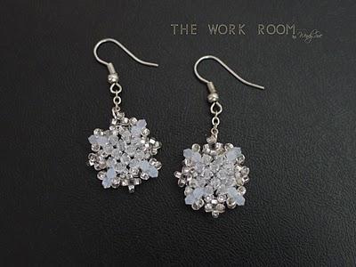 Crystal snowflakes earrings (via atelierworkroom)