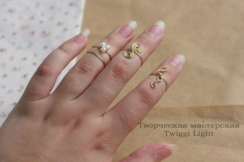 Cute DIY Wire Rings For Middle Phalanges