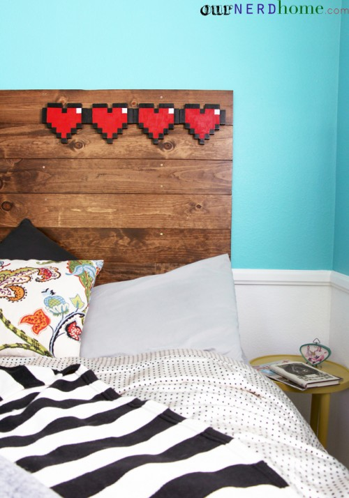 wooden headboard (via ournerdhome)